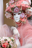 Pink Venice Mask, Carnival. Stock Images