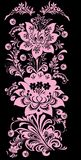 Pink vertical floral stripe Stock Images