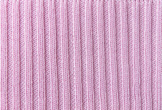 Pink Vertical Line Knitting or Knitted Fabric Texture Pattern Ba Stock Photo