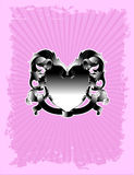 Pink Victory Crest Stock Images