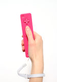 Pink Video Game Controller Royalty Free Stock Image