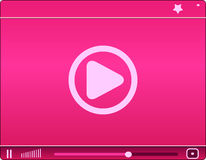 Pink video player. Icon. vector illustration Stock Photos