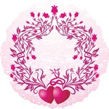 Pink vignette Stock Images