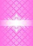 Pink vintage background. Vector pink & white vintage background Stock Photo