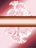 Pink vintage banner with roses Royalty Free Stock Photography
