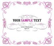 Pink vintage border. Pink floral and vintage border Stock Images