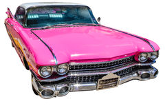 Vintage pink cadillac stock images