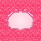 Pink Vintage Card Stock Image
