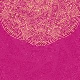 Pink Vintage Card with Half Mandala Element Royalty Free Stock Image