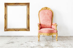 Pink Vintage Chair Royalty Free Stock Image