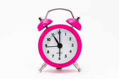 Pink Vintage Clock Stock Photography