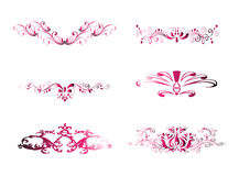 Pink Vintage Floral Design Element Stock Image