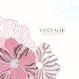 Pink vintage flower background Stock Photo
