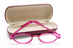 Pink vintage glasses Stock Photography