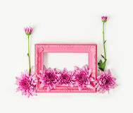 Pink vintage photo frame Royalty Free Stock Images