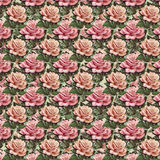 Pink vintage rose flower wallpaper background repeat Royalty Free Stock Image