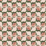 Pink vintage rose flower wallpaper background repeat Royalty Free Stock Photography