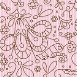 Pink vintage seamless pattern Stock Photos