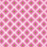 Pink Vintage Seamless Pattern. Vector illustration of a pink and green vintage seamless pattern wallpaper Stock Illustration