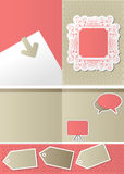 Pink vintage template Royalty Free Stock Photos