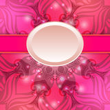 Pink vintage vector abstract background Stock Photo