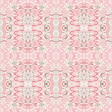 Pink vintage vector seamless pattern damask Background royalty free stock photos