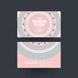 Pink vinyl record design for business card Stock Images