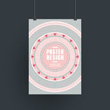 Pink vinyl record design for poster template Stock Image