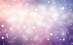 Pink, violet, blue snowy blurred background. Christmas empty festive illustration. Winter blur texture. New Year decor. Snow soft. Stylish image for a variety of Stock Photos