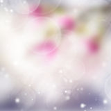 Pink and violet bokeh background. With light beams royalty free stock images