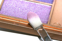 Pink and violet eyeshadows Stock Images