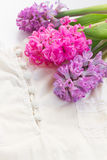 Pink and violet hyacinths Stock Photography