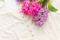 Pink and violet hyacinths Stock Image