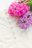 Pink and violet hyacinths Royalty Free Stock Photos