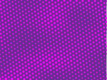 Pink-violet, purple halftone background. Digital gradient. Abstract backdrop with circles, point, dots. Dotted pattern. Futuristic panel Vector illustration Stock Photo
