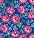 Pink vivid abstract flowers seamless pattern. Royalty Free Stock Photography