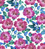 Pink vivid abstract flowers seamless pattern Stock Images