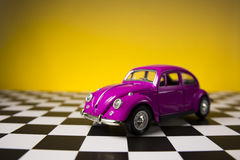 Pink volkswagen beetle Royalty Free Stock Photography