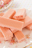 Pink Wafer Biscuits Royalty Free Stock Photography