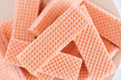 Pink Wafer Biscuits Royalty Free Stock Photo