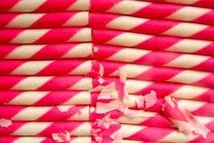 Pink wafer stick Royalty Free Stock Image