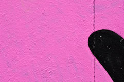 Pink wall black shape Stock Photos