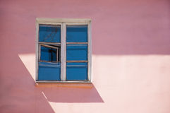 Pink wall of the building with Stock Photo