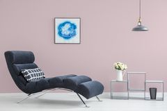 Pink wall in modern interior Royalty Free Stock Image