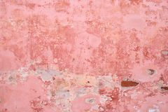Pink wall of plaster. royalty free stock photos
