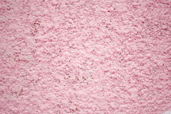 Pink wall, texture plaster, concrete surface as a background. Pink concrete wall, surface texture plaster background for design Stock Photography