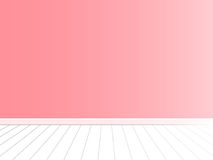 Pink wall with white floor interior vector Royalty Free Stock Images
