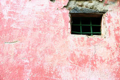 Pink wall with window Royalty Free Stock Image