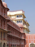 Pink walled inner buildings of  City Palace Stock Images