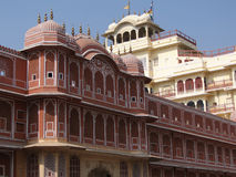 Pink walled inner buildings of  Jaipur Stock Photography